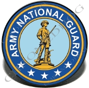 Knurled Valve Stem Caps - Army National Guard - 2