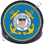 Knurled Valve Stem Caps - Coast Guard - 2