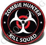 Knurled Valve Stem Caps - Zombie Hunter - R/W - 2