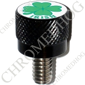 Harley Custom Seat Bolt - S KN Black Billet - Clover Irish W