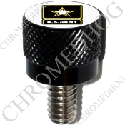 Harley Custom Seat Bolt - S KN Black Billet - US Army L White