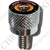 Harley Custom Seat Bolt - S KN Chrome Billet - Fire Fighter BT