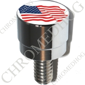 Harley Custom Seat Bolt - S SM Chrome Billet - Flag American