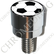 Harley Custom Seat Bolt - S SM Chrome Billet - Soccer Ball NS