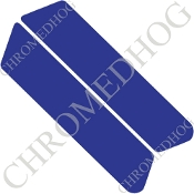 96-07 Police Saddlebag Decals - Solid - Blue