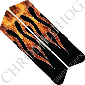 96-07 Police Saddlebag Decals - Flame - Real/ Black