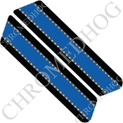 96-07 Police Saddlebag Decals - Blue Line - Silver