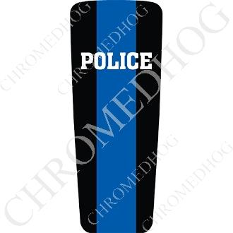 08-15 Ultra & Electra Glide Dash Insert - Blue Line - Police H