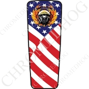 08-15 Ultra & Electra Glide Dash Insert - Fire Fighter US Flag