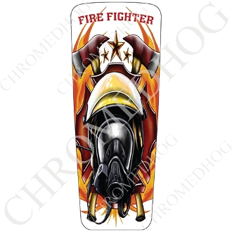 08-15 Ultra & Electra Glide Dash Insert - Fire Fighter - White F