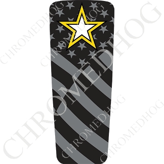 08-15 Ultra & Electra Glide Dash Insert - Army Star - G Flag