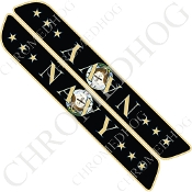 93-13 Saddlebag Latch Reflector Covers - Navy - Stars