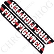 93-13 Saddlebag Latch Reflector Covers - Red Line - Fire Fighter