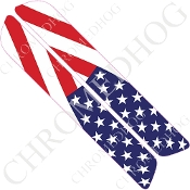 93-13 Saddlebag Latch Reflector Covers - Flag - USA