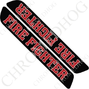 93-13 Saddlebag Latch Reflector Covers - Fire Fighter - Black