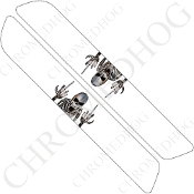 93-13 Saddlebag Latch Reflector Covers - Skeleton 2 - White