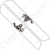 93-13 Saddlebag Latch Reflector Covers - Skeleton 1 - White