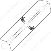 14-Up Saddlebag Latch Reflector Covers - Skeleton 1 - White
