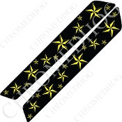 14-Up Saddlebag Latch Reflector Covers - Star - Yellow Multi