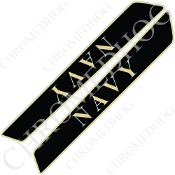 14-Up Saddlebag Latch Reflector Covers - Navy - Black Thin