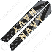 14-Up Saddlebag Latch Reflector Covers - Navy - Ghost Flag