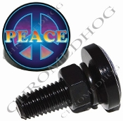 Sm Black Billet License Plate Bolts - Peace