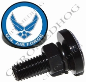 Sm Black Billet License Plate Bolts - USAF - Air Force