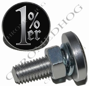 Sm Silver Billet License Plate Bolts - 1%er - Black