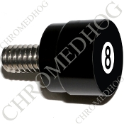 Twin Cam Air Cleaner Bolt - S SM Black Billet 8 Ball