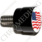 Twin Cam Air Cleaner Bolt - S SM Black Billet Flag - American
