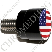 Twin Cam Air Cleaner Bolt - S SM Black Billet Flag - USA