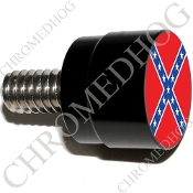 Twin Cam Air Cleaner Bolt - S SM Black Billet Flag - Rebel