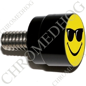 Twin Cam Air Cleaner Bolt - S SM Black Billet - Smile Shades