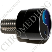 Twin Cam Air Cleaner Bolt - S SM Black Billet Yin Yang - Blk/Blu