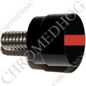 Twin Cam Air Cleaner Bolt - S SM Black Billet Red Line