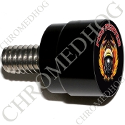 Twin Cam Air Cleaner Bolt - S SM Black Billet Fire Fighter - Blk