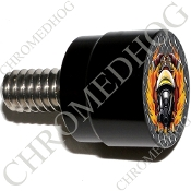 Twin Cam Air Cleaner Bolt - S SM Black Billet Fire Fighter - DP