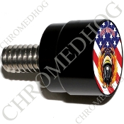 Twin Cam Air Cleaner Bolt - S SM Black Billet FireFighter - Flag