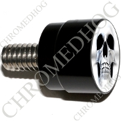 Twin Cam Air Cleaner Bolt - S SM Black Billet Ghost Skull