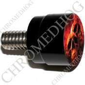 Twin Cam Air Cleaner Bolt - S SM Black Billet Grave Skull