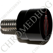 Twin Cam Air Cleaner Bolt - S SM Black Billet Pin Stripe