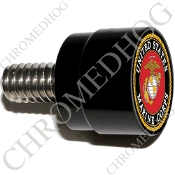 Twin Cam Air Cleaner Bolt - S SM Black Billet USMC Marine Corps