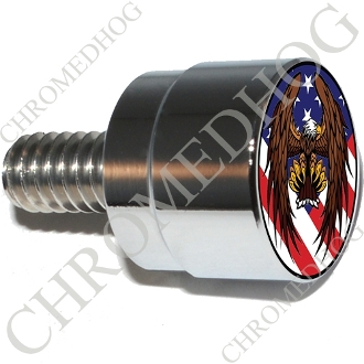 Twin Cam Air Cleaner Bolt - S SM Chrome Billet Eagle - US Flag