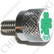 Twin Cam Air Cleaner Bolt - S KN Chrome Billet Clover - Irish Wt