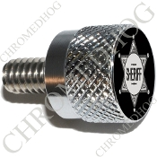 Twin Cam Air Cleaner Bolt - S KN Chrome Billet Sheriff Badge - B