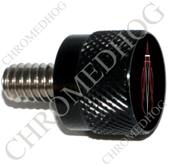 Twin Cam Air Cleaner Bolt - S KN Black Billet Pin Stripe