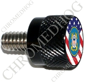 Twin Cam Air Cleaner Bolt - S KN Black Billet Coast Guard - Flag