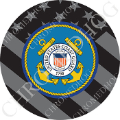 Knurled Valve Stem Caps - Coast Guard G Flag - 2