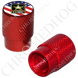 Knurled Valve Stem Caps - Army Logo US Flag - 2