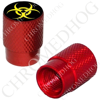 Knurled Valve Stem Caps - Hazard - Yellow - 2